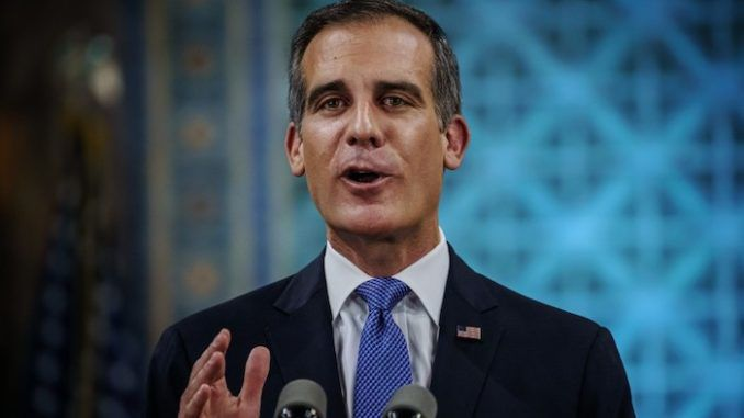 Los Angeles Democrat Mayor Eric Garcetti says institutional racism is to blame for homelessness, not his liberal policies