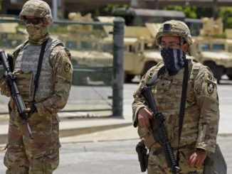 LAPD arrests rioter dressed at national guard and armed to the teeth