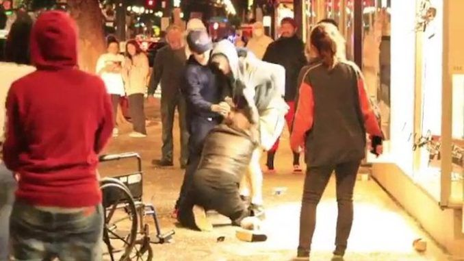 Disabled man dragged from wheelchair and beaten up during Portland riots