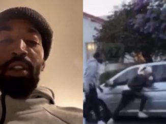 When NBA star J.R. Smith caught a protester vandalizing his truck and smashing its windows during a riot in Los Angeles over the weekend, he decided to take matters into this own hands.