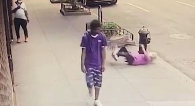NYPD arrest thug who punched 91-yr-old woman who fell to the ground