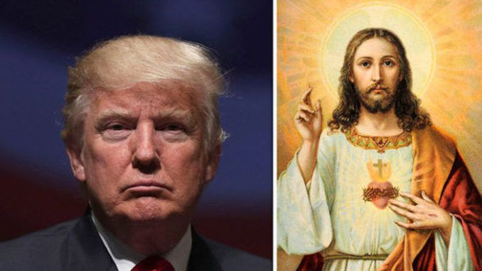 President Donald Trump has vowed to protect statues of Jesus Christ as well as statues of the Founding Fathers from leftist mobs targeting their destruction.