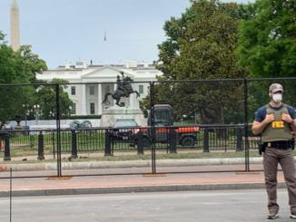 US park police say baseball bats and poles were find near White House