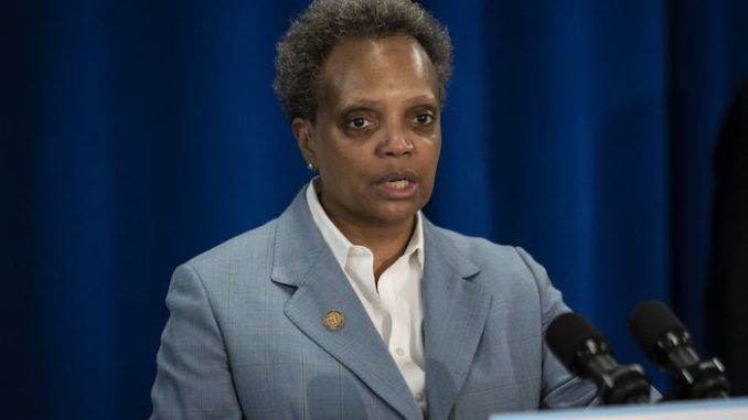 Chicago's far-left mayor Lori Lightfoot, who has presided over the city's descent into chaos, violence and criminality, has been reduced to begging major retailers not to abandon her lawless city.