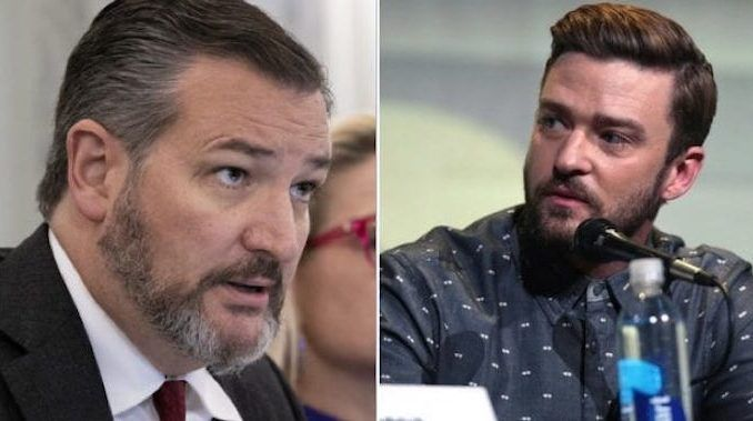 "Republican Sen. Ted Cruz (R-TX) slammed Justin Timberlake after the singer called on his legion of social media followers to donate to an organization providing bail money for arrested ""protesters."""