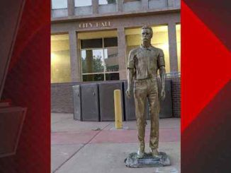 A bronze-colored statue of deceased pedophile Jefferey Epstein appeared in front of City Hall in downtown Albuquerque on Wednesday, according to local reports.