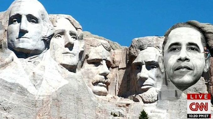 """CNN host Don Lemon said former President Barack Obama's face should be carved """"front and center"""" with the Founding Fathers on Mount Rushmore so that """"more people rethink our country in the way we think."""""""