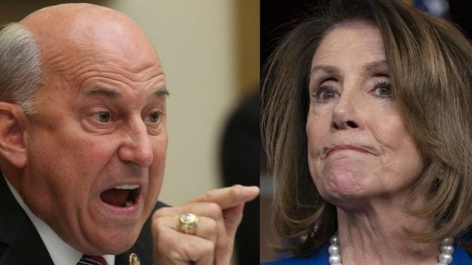 """Rep. Louie Gohmert (R-TX) dropped a truth bomb on in the House yesterday, stunning Nancy Pelosi by urging Congress to ban the """"loathsome and bigoted"""" Democrat Party with its shameful history of supporting slavery."""