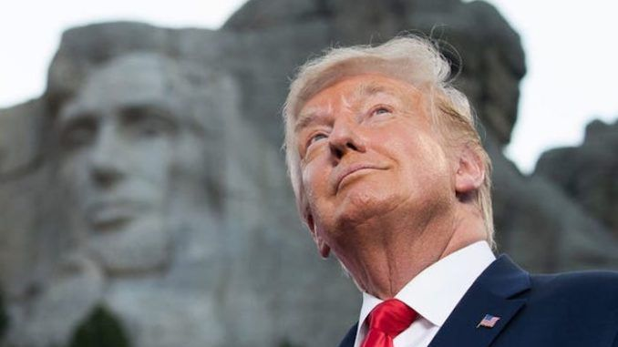 President Trump declares that Mount Rushmore will stand forever
