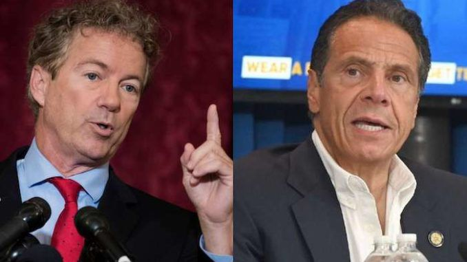 Senator Rand Paul calls for Gov. Andrew Cuomo to be impeached for nursing home deaths