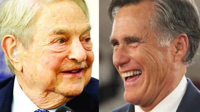Utah Senator Mitt Romney, has received thousands of dollars in payments from Soros Fund Management, a left-wing influence operation funded by notorious globalist billionaire George Soros, according to publicly declared donations.