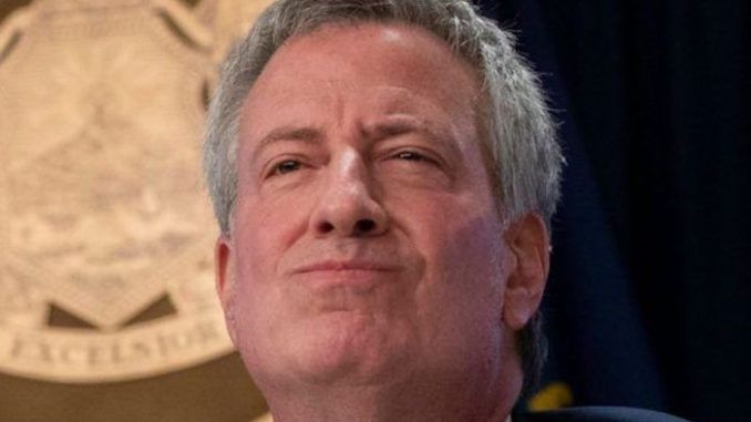 Mayor Bill de Blasio celebrated New York's record low prison population even as shootings soared by a whopping 277 per cent compared to the same week last year.