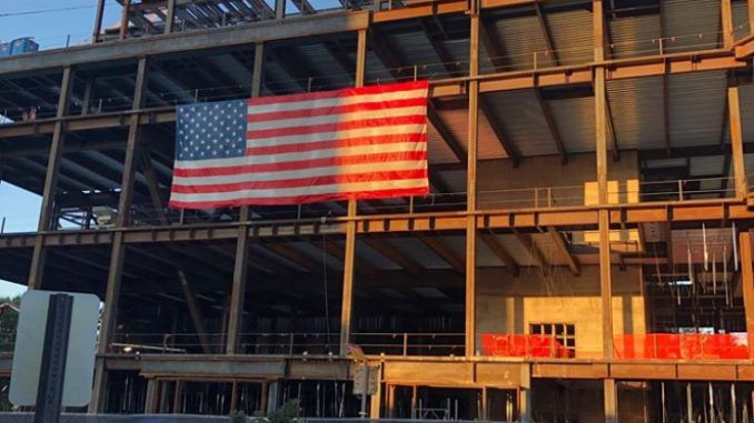 Virginia officials order U.S. flag to be removed from construction site