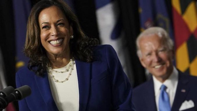 Biden's lead over Trump drops 2 points after he names Kamala Harris his running mate