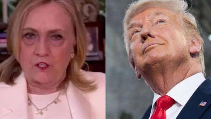 "Twice-failed presidential candidate Hillary Clinton, who won't shut up about 2016, sent irony meters through the roof this week when she warned Trump ""won't go quietly"" if he loses in November."