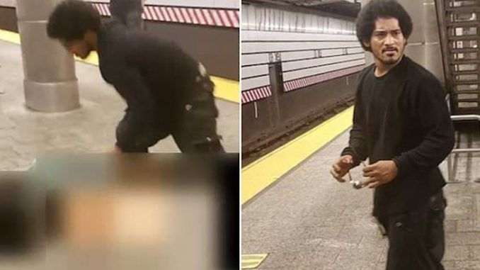 Man filmed at Manhattan subway raping woman at 11am in the morning as she screams and bystanders beg him to stop