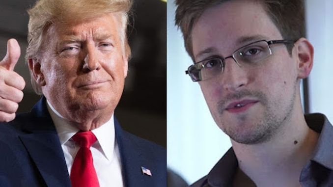 President Trump confirms he is looking at granting a pardon to Edward Snowden
