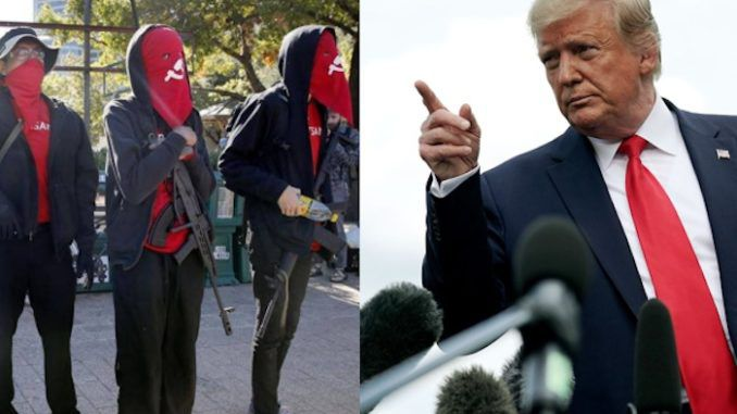 Trump designates Antifa and KKK terrorist organizations