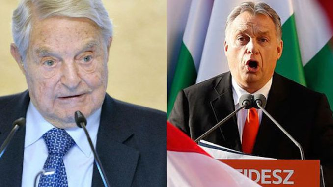 Hungary's Prime Minister Viktor Orbán warns George Soros is trying to steal power away from ordinary people