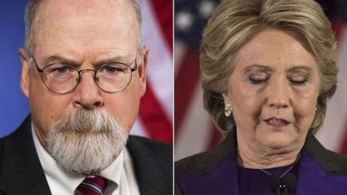 The Clinton Foundation under criminal investigation by US Attorney John Durham