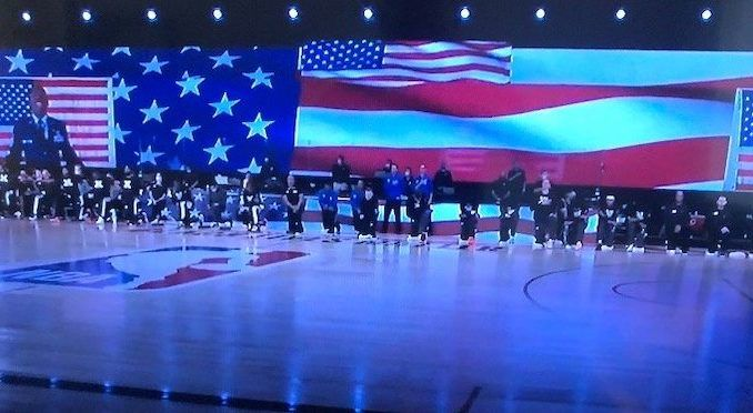 NBA players kneel during 9/11 ceremony