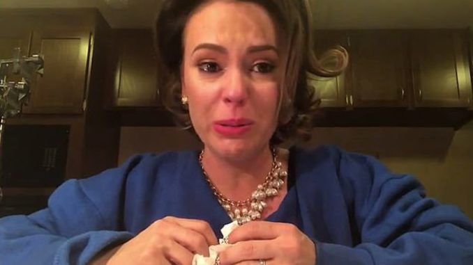 Alyssa Milano claims you cannot support the U.S. if you support Trump