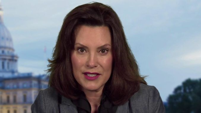 Gov Whitmer says if the American public are tired of lockdowns they need to vote for Biden