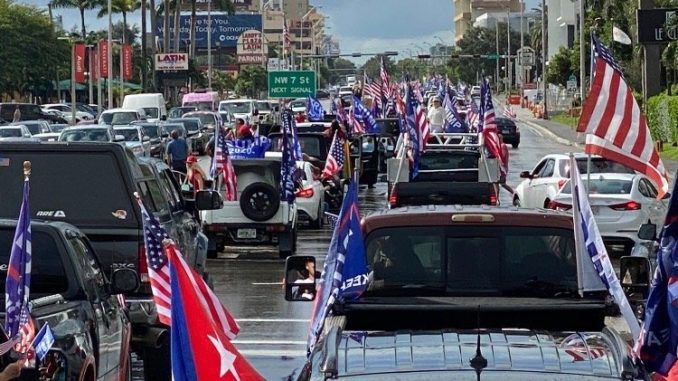 Over 30k cars participated in Latinos for Trump caravan in south Florida