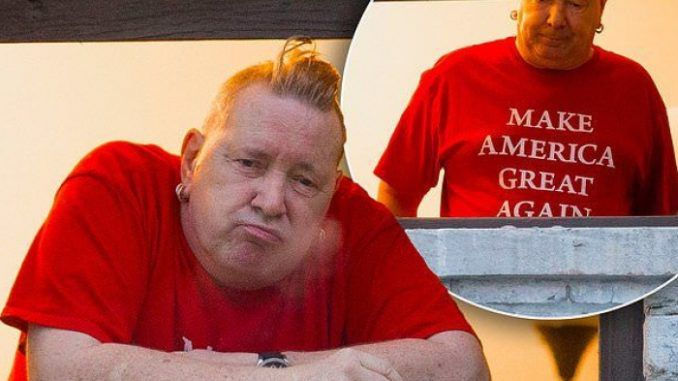 Johnny Rotten slams Obama and the corrupt mainstream media and praises President Trump