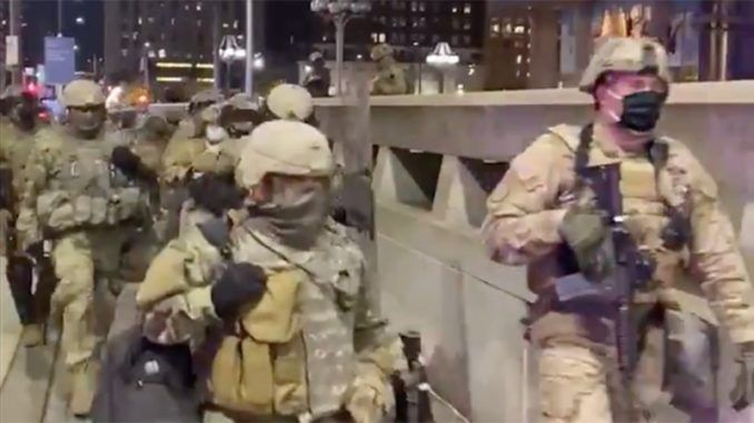 Military filmed arriving in U.S. cities across America ahead of election night