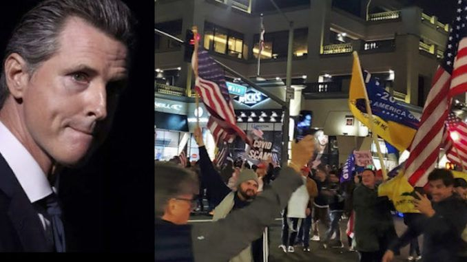Thousands of protestors defy California Gov. Newsom's COVID order