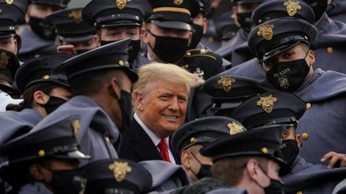 Thousands of Army-Navy Patriots cheer Trump as he visits West Point