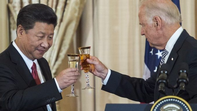 Chinese government boast Joe Biden will protect China from America's allies