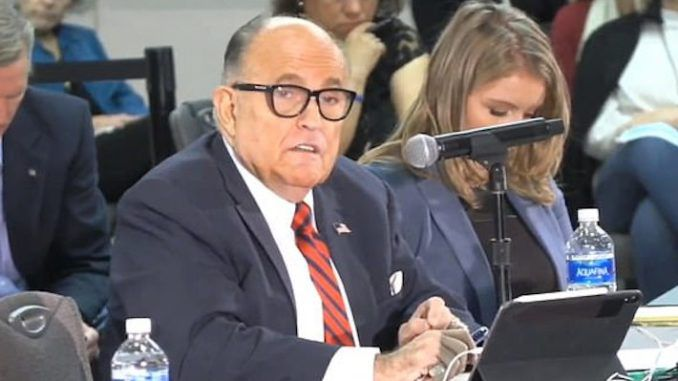 Giuliani tells lawmakers their career is worth losing if it means saving the Republic