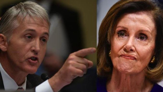 Trey Gowdy says Nancy Pelosi can't find a single Democrat who didn't date a Chinese spy