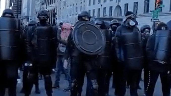 Antifa thugs march through the streets of NYC