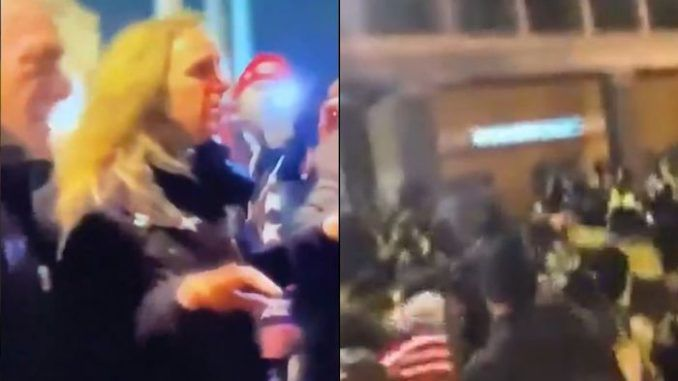 DC Police pepper spray Trump supporters after BLM assault