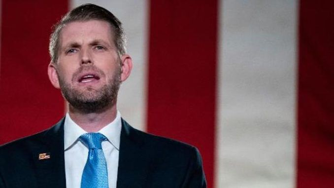 Eric Trump warns Republicans will lose their political careers for certifying votes for Biden