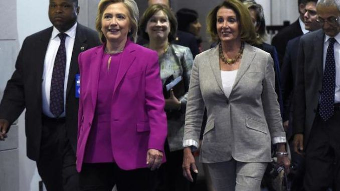 Hillary Clinton and Nancy Pelosi claim Trump took orders from Putin and allowed Capitol riots