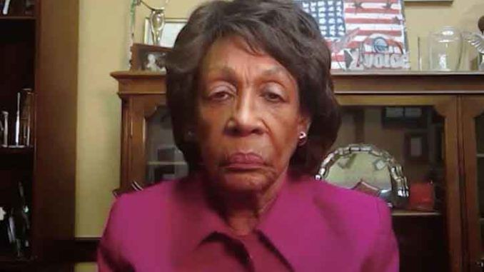 Rep. Maxine Waters warns that Trump will take over small towns and cities unless he is convicted