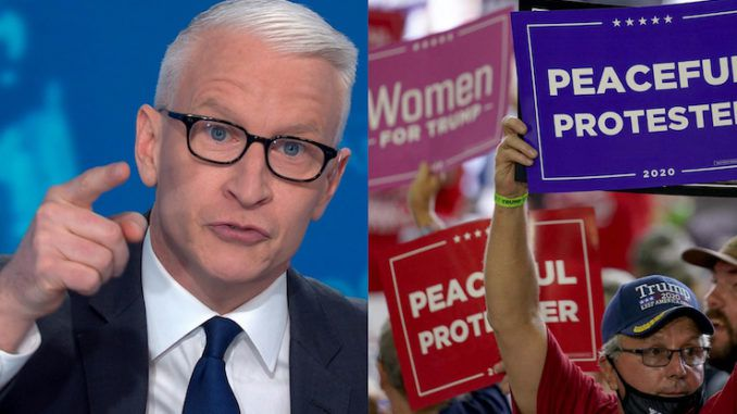 CNN's Anderson Cooper declares Trump supporters hate the police