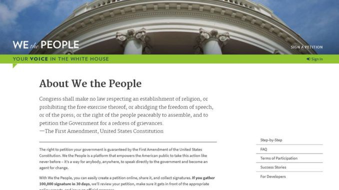 President Biden quietly removed 'we the people' petition from White House website