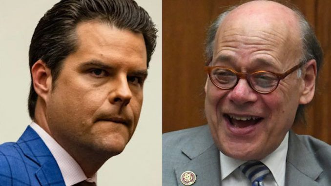 Democrats caught on hot mic mocking Rep. Matt Gaetz over pledge of allegiance request