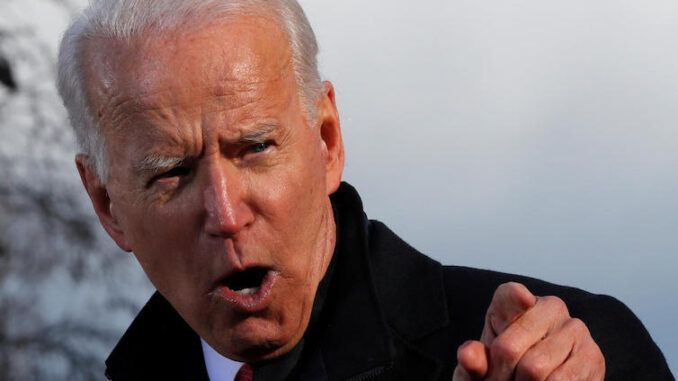 Biden pressures Supreme Court to allow cops to enter people's homes and seize their guns