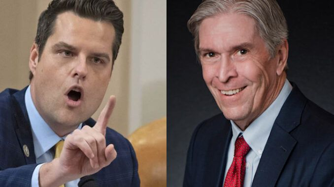 Rep. Gaetz names and shames deep state spook who tried to extort him for millions of fake sex trafficking allegations