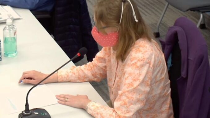 School board member arguing for mandatory masks nearly faints while wearing a mask