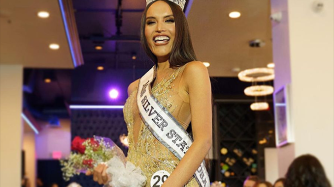 Biological male crowned miss silver state USA