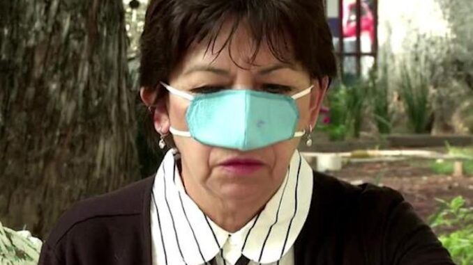 leftists push nose-only masks for eating and drinking at restaurants