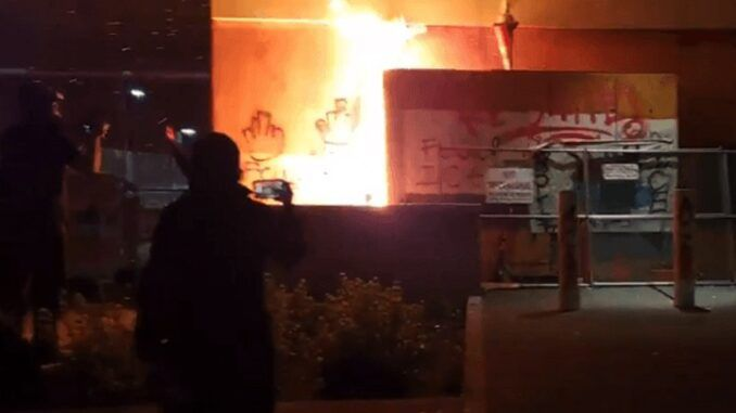 Antifa sets Portland ICE facility on fire with officers inside the building