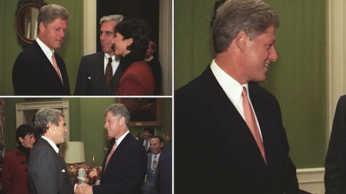 Previously unreleased photo's show Bill Clinton meeting billionaire pedophile Jeffrey Epstein at the White House